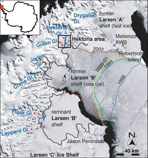 larsen b ice shelf future collapse timeline antarctica 2019 2020 global warming timeline climate change