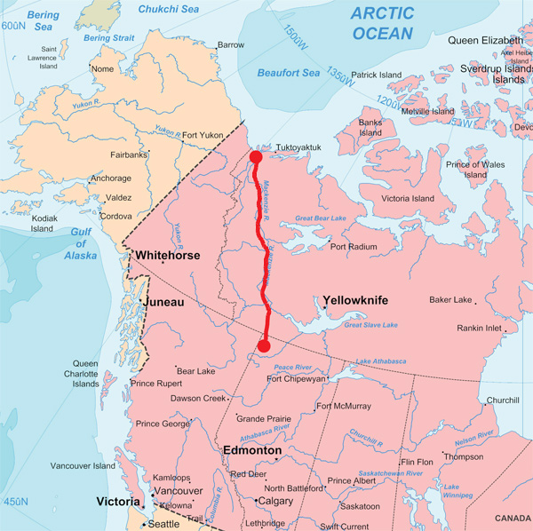 mackenzie valley pipeline map and timeline 2018