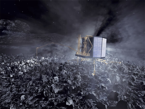 rosetta probe lander philae comet asteroid 67P Churyumov Gerasimenko 2014 future mission nasa esa