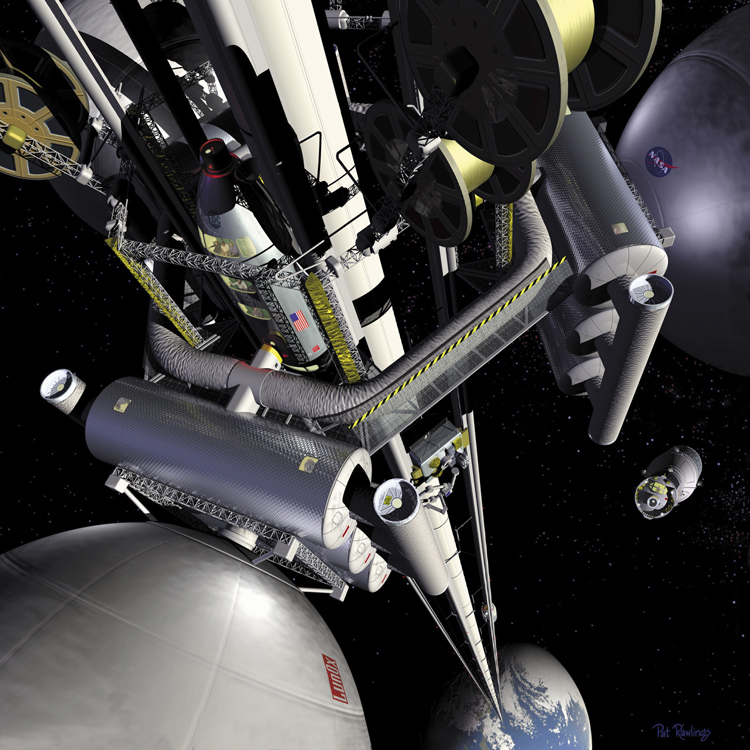 space elevator 22nd century skyhook future space technology transport