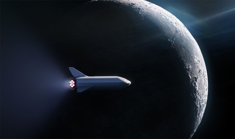 spacex rocket will send a passenger around the moon in 2023