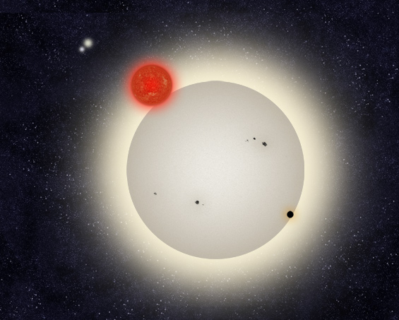 quadruple star system with planets - photo #16