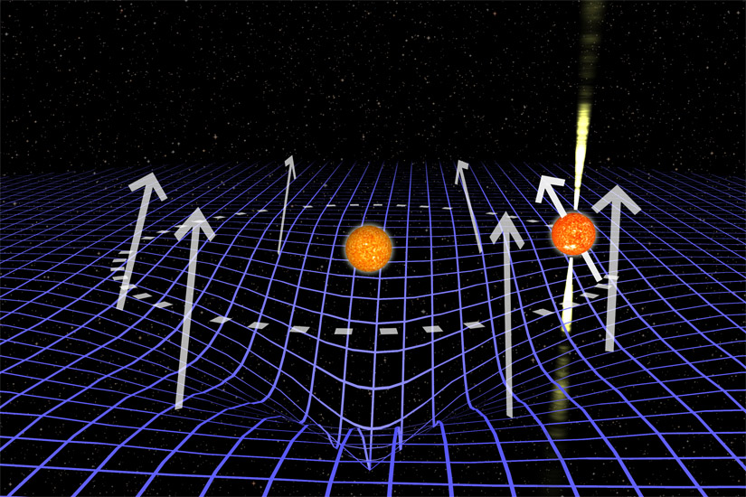 neutron star warp in space time