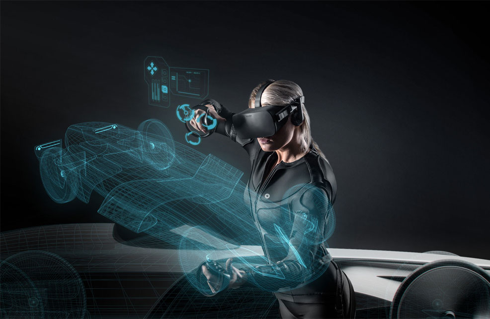 Full-body VR suit features haptic feedback, motion capture