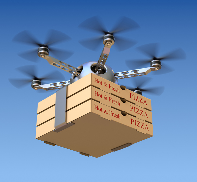 pizza delivery drone gps