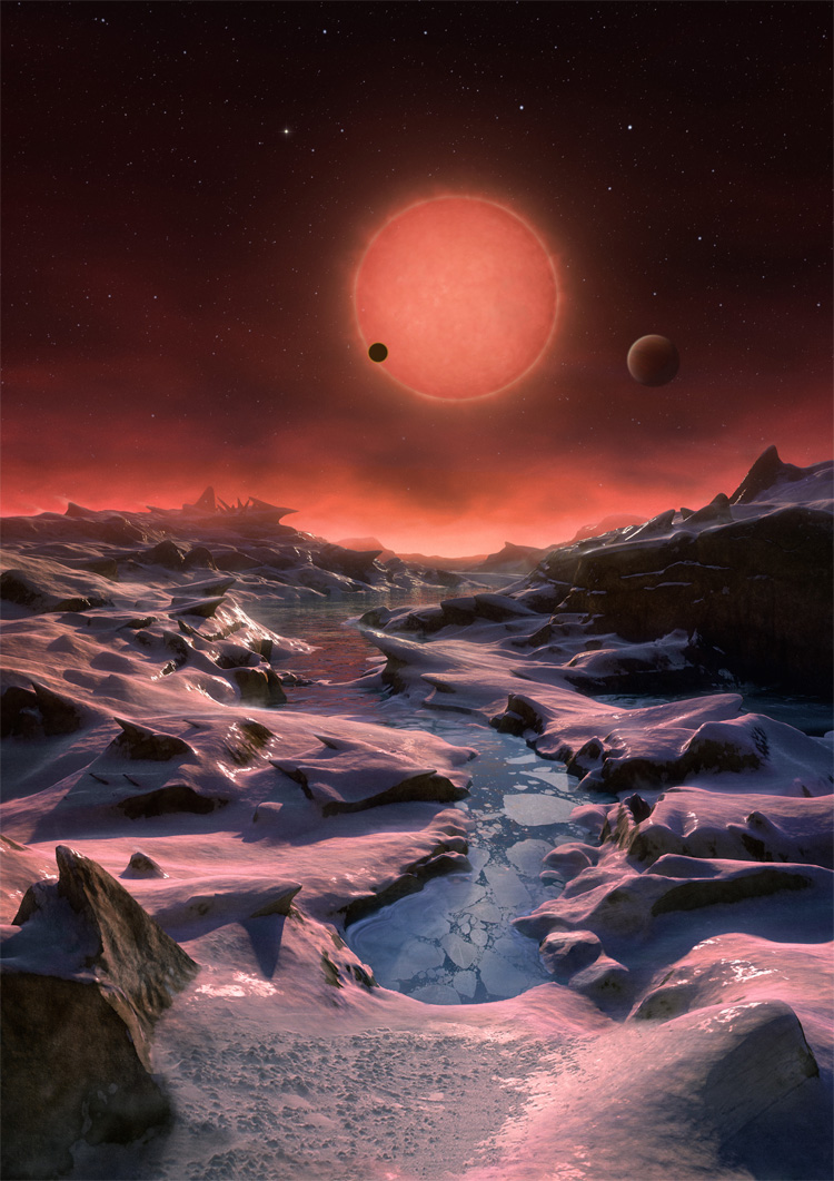 2016 three earthlike planets ultracool brown dwarf star