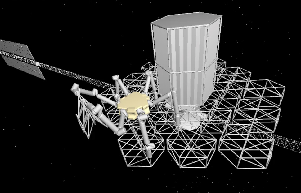 robot space telescope construction