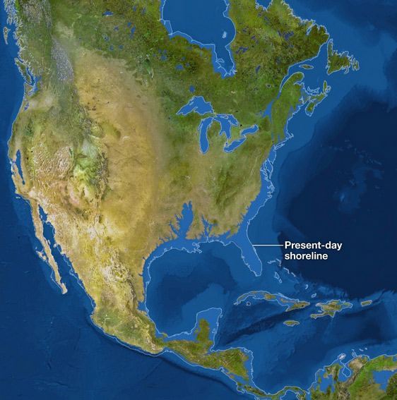 AD How Earth Will Look If All The Ice Melts - Sea level rise map 2050