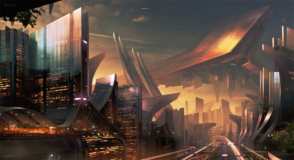 earthscrapers by izaak moody future art