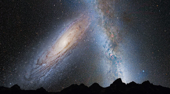 Timeline of the Universe, future collision of Andromeda, a future timeline of humanity and Earth, the far future, galaxy merger.